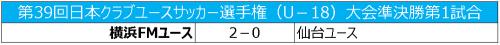 横浜FMが渡辺力樹、阿部隼人のゴールで決勝進出/クラブユースU-18