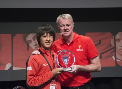 京都U-15がフェアプレー賞受賞/マンUプレミアカップ
