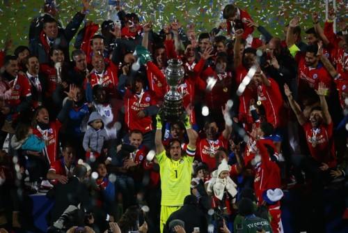 開催国チリが初の南米王者に輝く…強豪アルゼンチンとのPK戦を制す