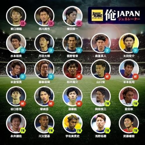 東アジア杯に臨む日本代表メンバー発表…宇佐美ら23名、武藤雄、遠藤航が初選出