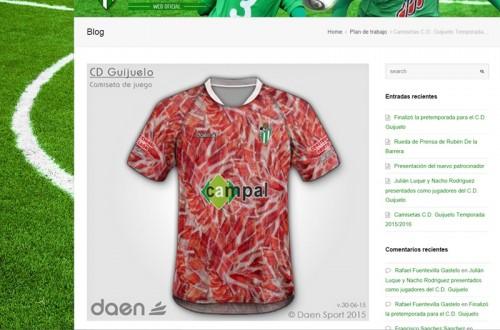 スペイン3部、地元の名産「生ハム」をユニフォームにしたチームが出現