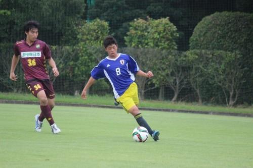 U-15日本代表候補、千葉U-16に4発快勝でキャンプを終える