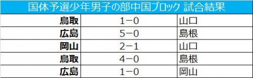 広島、鳥取、岡山がわかやま国体に出場/国体予選少年男子の部中国ブロック