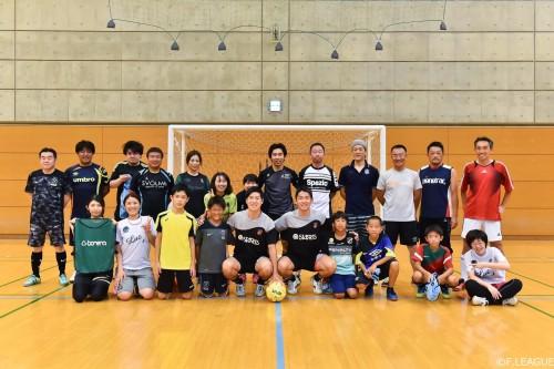 Fリーグ現役選手とJFA「j-futsal」が共同でクリニックを開催
