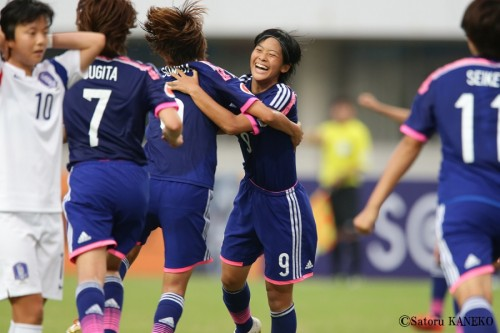 ヤングなでしこ、2大会ぶりU-20女子W杯切符獲得…小林弾で韓国撃破