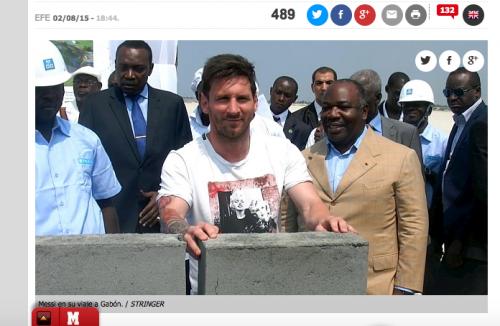 NGO、ガボン訪問のメッシに対し「独裁政権を支援した」と批判
