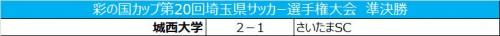 城西大が土壇場の勝ち越しゴールで決勝進出/天皇杯埼玉県予選