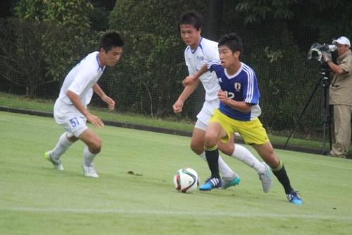 U-15日本代表候補、FW棚橋らが得点もインハイ準優勝の市立船橋高校に完敗