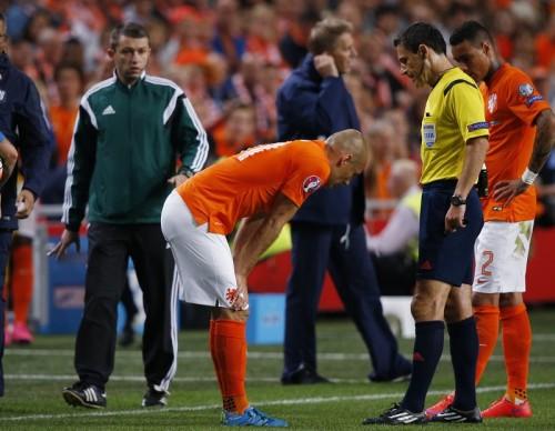 オランダ代表離脱のMFロッベン、左内転筋の負傷で4週間離脱と発表