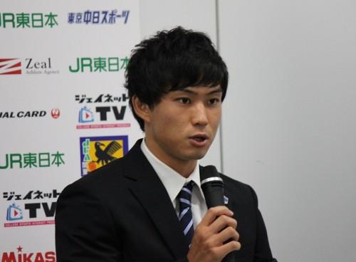 新潟加入内定の筑波大MF早川史哉「内田潤さんみたいな選手になりたい」