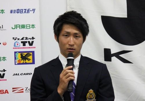 名古屋加入内定の明治大FW和泉竜司「矢田旭君からポジションを奪いたい」