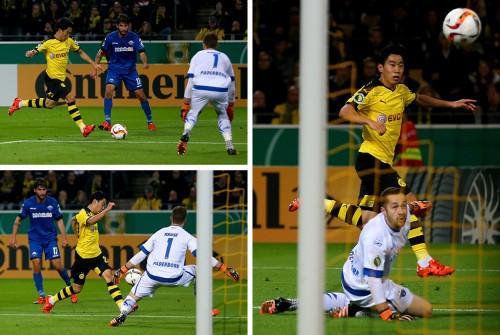 香川が技ありループで公式戦6ゴール目…17試合で昨季の総得点に並ぶ