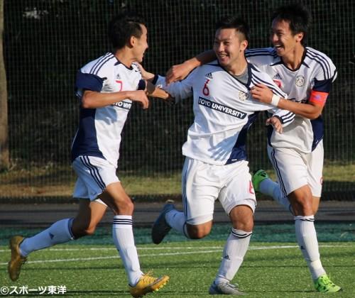 【大学サッカー/注目選手】東洋大MF小山北斗、約1年半ぶりのゴールで逆転勝利に導く