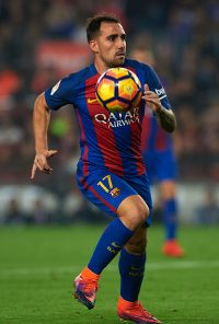 BARCELONA, SPAIN - OCTOBER 29:  Paco Alcacer of FC Barcelona in action during the La Liga match between FC Barcelona and Granada at Camp Nou stadium on October 29, 2016 in Barcelona, Spain.  (Photo by Manuel Queimadelos Alonso/Getty Images)