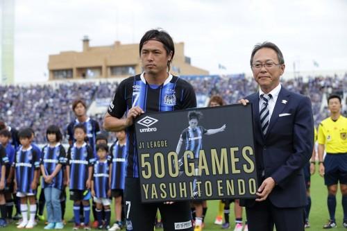 遠藤保仁が歴代最年少の35歳でJ1通算500試合出場達成…デビューから18年