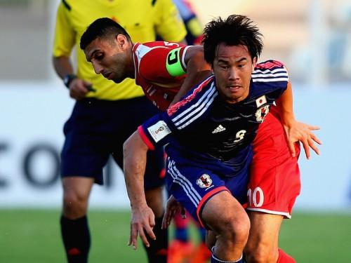 日本が天王山制しW杯予選首位浮上…本田、岡崎、宇佐美の得点でシリア撃破