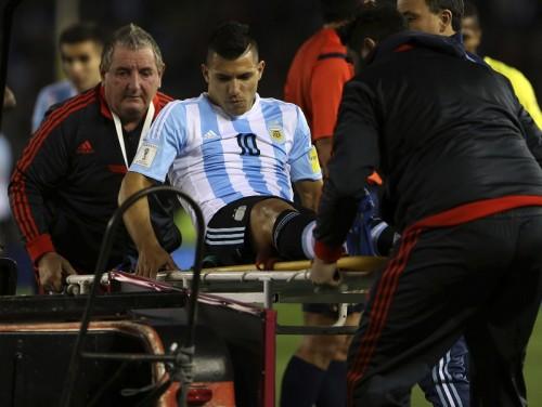 好調アグエロが左ハムストリングを負傷…次節パラグアイ戦も欠場へ