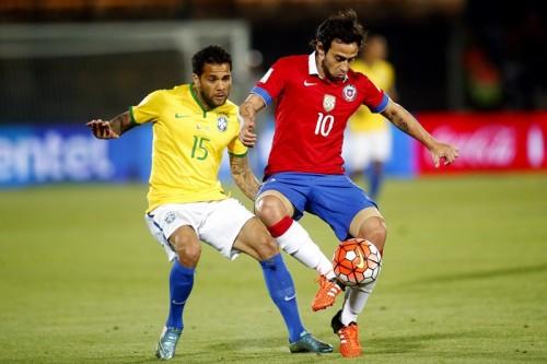 ネイマール不在のブラジル、南米予選黒星スタート…大陸王者チリが快勝