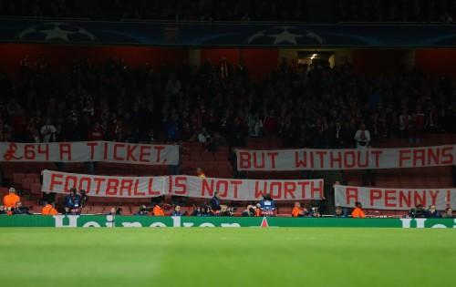 高額チケットにバイエルンファンが猛抗議…アーセナルファンも賛同