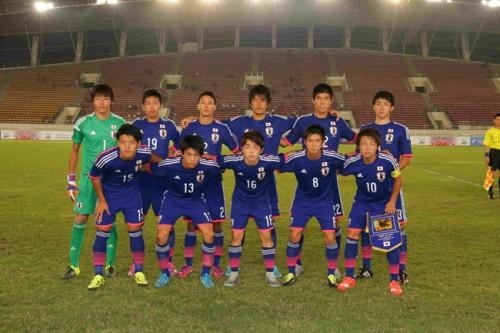 U-18日本代表、小川と髙木の得点でラオスに勝利/AFC U-19選手権2016予選