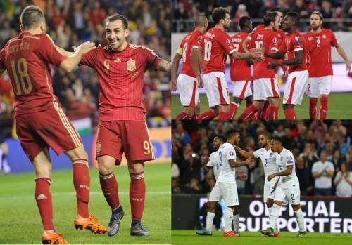 前回王者スペイン、スイス&オーストリアが本大会出場決める/ユーロ予選第9節