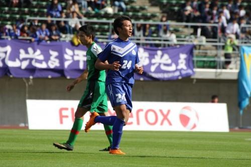 玉野光南MF新地猛、一度はサッカーから離れた男がチームを全国出場に導く