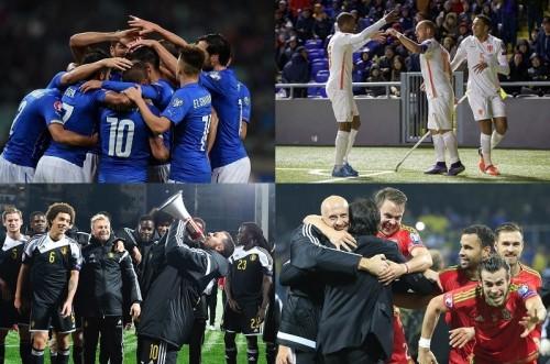 イタリア、ベルギー、ウェールズが予選突破…オランダは望みつなぐ/ユーロ2016予選