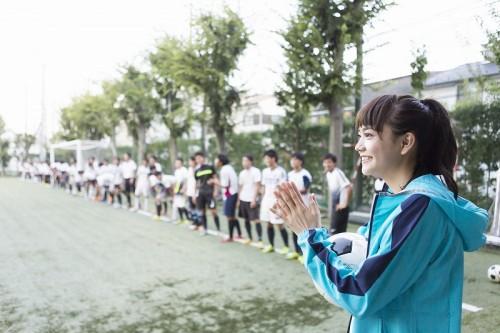 【動画】松井愛莉さんが武南高校サッカー部1日マネージャーに就任!