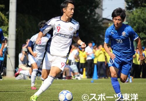 東洋大が産能大に2-1で勝利…遊馬、田中のゴールで昇格に望みをつなぐ/関東大学リーグ2部第16節