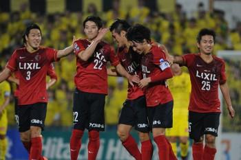 (EDITORIAL USE ONLY) xxx during the J.League match between Kashiwa Reysol and Kashima Antlers at Hitachi Kashiwa Soccer Stadium on April 16, 2015 in Kashiwa, Chiba, Japan.
