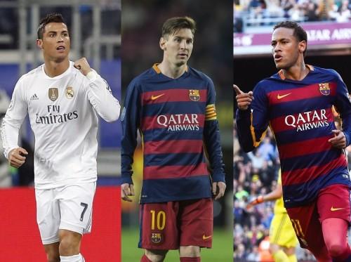 FIFAバロンドール最終候補3名発表…C・ロナ、メッシ、ネイマールが選出