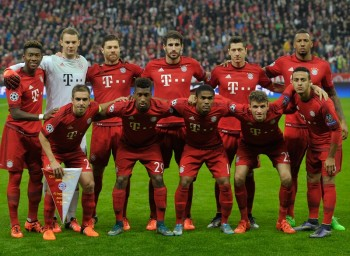 during the UEFA Champions League Group F match between FC Bayern Muenchen and Arsenal FC at the Allianz Arena on November 4, 2015 in Munich, Germany.