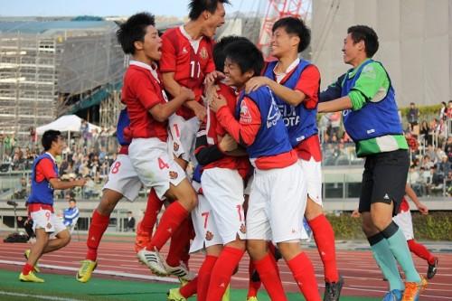名古屋U18が深堀隼平の得点で東京Vユースを下し、ベスト4進出/Jユース杯準々決勝
