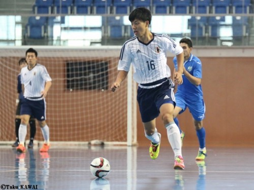 名古屋合宿中のフットサル日本代表…ウズベキスタンとの第1戦に快勝