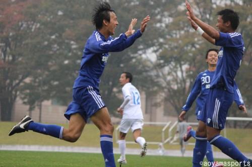 青山学院大、4連勝へ弾みをつける快勝。応援とともにもぎ取った勝ち点3/関東大学リーグ2部第21節