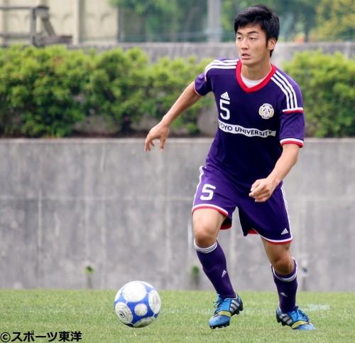 【大学サッカー/注目選手】東洋大の瀧澤修平…ポジティブな鉄壁ディフェンダー