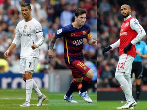 UEFAが究極のドリームチームを発表…C・ロナ、メッシ、アンリの3トップ