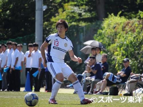 【大学サッカー/注目選手】東洋大DF長谷川優希…憧れを追い求めて