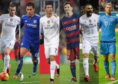 ワールドベスト11候補者55名発表…レアルから最多12名が選出