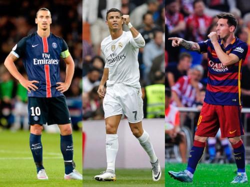 UEFAが2015年ベスト11候補を発表…イブラ、C・ロナ、メッシら40名