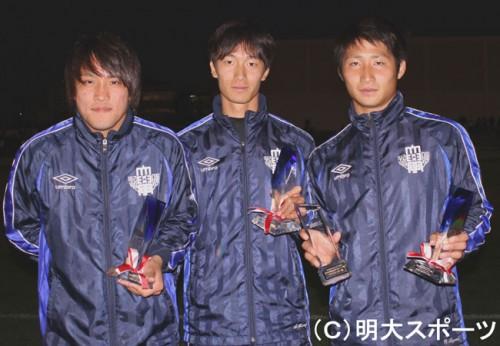 名古屋加入内定の明治大FW和泉竜司、ベストイレブンに選出も「もっとできた」