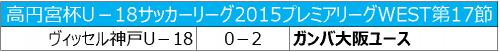 G大阪が武田太一と堂安律の得点で神戸に勝利…1節を残して初優勝が決定/プレミアリーグWEST第17節