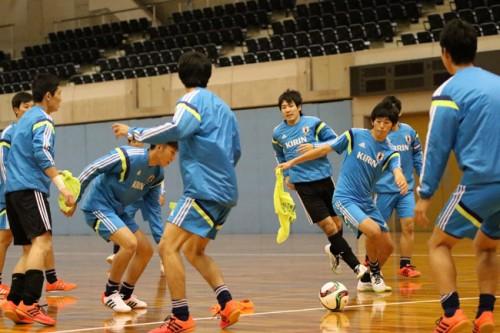 U-18フットサル日本代表候補、ポゼッションゲームなどを行い大阪合宿2日目を終える