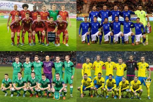 ユーロ2016組み合わせ決定…ベルギー、イタリア、スウェーデンが同組に
