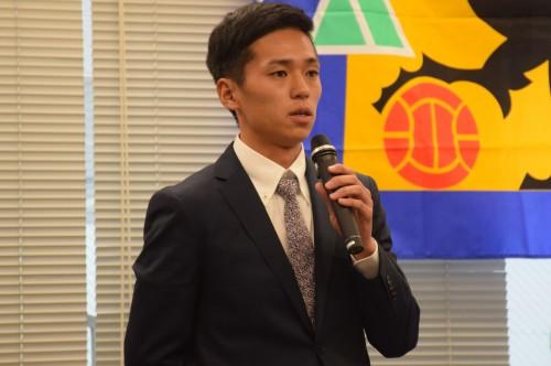 阪南大MF松下佳貴「決勝で関西学院大と対戦して、勝利したい」