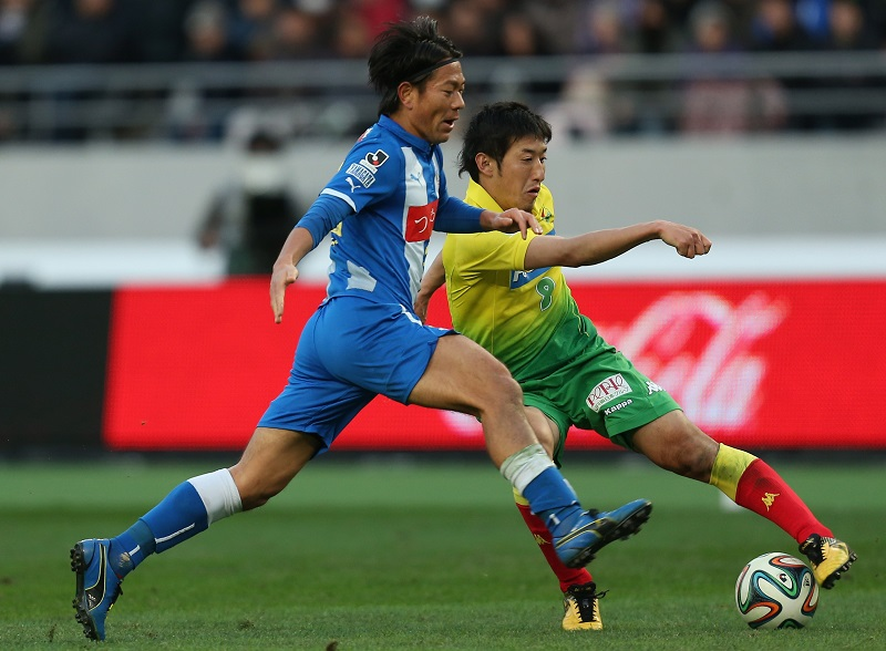 (EDITORIAL USE ONLY) xxx during the J1 Promotion Play-Off Final match between JEF United Chiba and Montedio Yamagata at Ajinomoto Stadium on December 7, 2014 in Chofu, Tokyo, Japan.