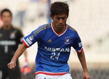 (EDITORIAL USE ONLY) during the J.League 2015 pre-season match between Yokohama F. Marinos and Matsumoto Yamaga at Nissan Stadium on February 21, 2015 in Yokohama, Kanagawa, Japan.