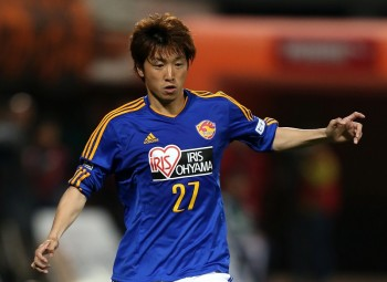 SHIZUOKA, JAPAN - APRIL 22:  (EDITORIAL USE ONLY) Takuya Takei of Vegalta Sendai in action during the J.League Yamazaki Nabisco Cup match between Shimizu S-Pulse and Vegalta Sendai at IAI Stadium Nihondaira on April 22, 2015 in Shizuoka, Japan.  (Photo by Kaz Photography/Getty Images)