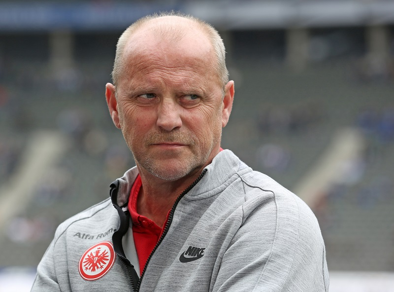 BERLIN, GERMANY - MAY 16:  during the Bundesliga match between Hertha BSC and Eintracht Frankfurt at Olympiastadion on May 16, 2015 in Berlin, Germany. (Photo by Matthias Kern/Bongarts/Getty Images)