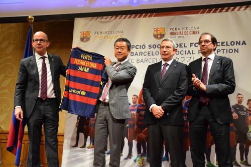 バルセロナ幹部が日本唯一の公認サポーターズクラブ式典に出席「ビッグファミリーです」